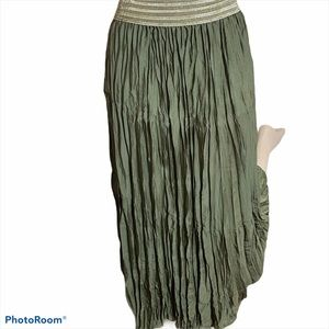 Chico's Boho Style Gauze Look Pleated Skirt